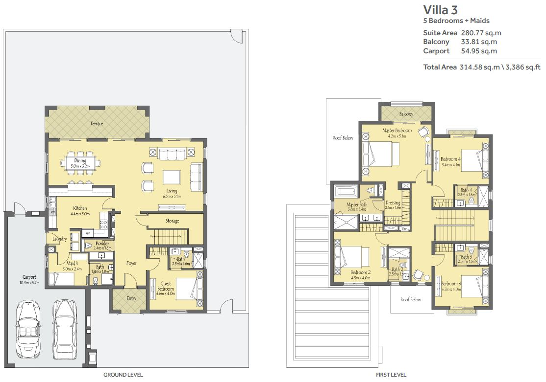 Villanove La Quinta Independent Villas : Floor Plan